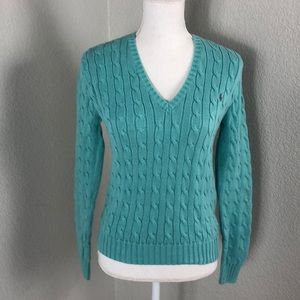 Ralph Lauren Cable-knit V- Sweater